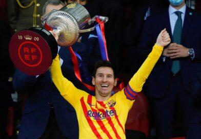 Con dos goles de Messi, Barcelona vapuleó al Athletic de Bilbao y se consagró campeón de la Copa del Rey