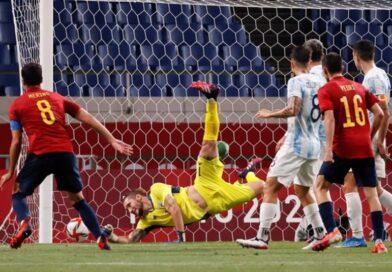 Argentina se lo empató en el final a España, pero no alcanzo para pasar de ronda en los JJ. OO.